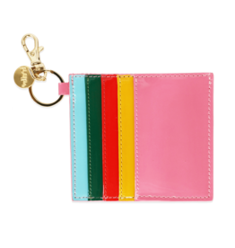 Wallet: Rainbow bright card holder keychain