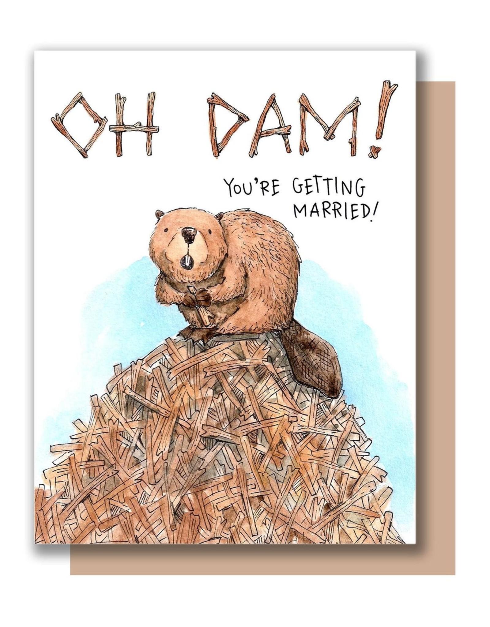 Paper Wilderness Card - Wedding: Oh damn!