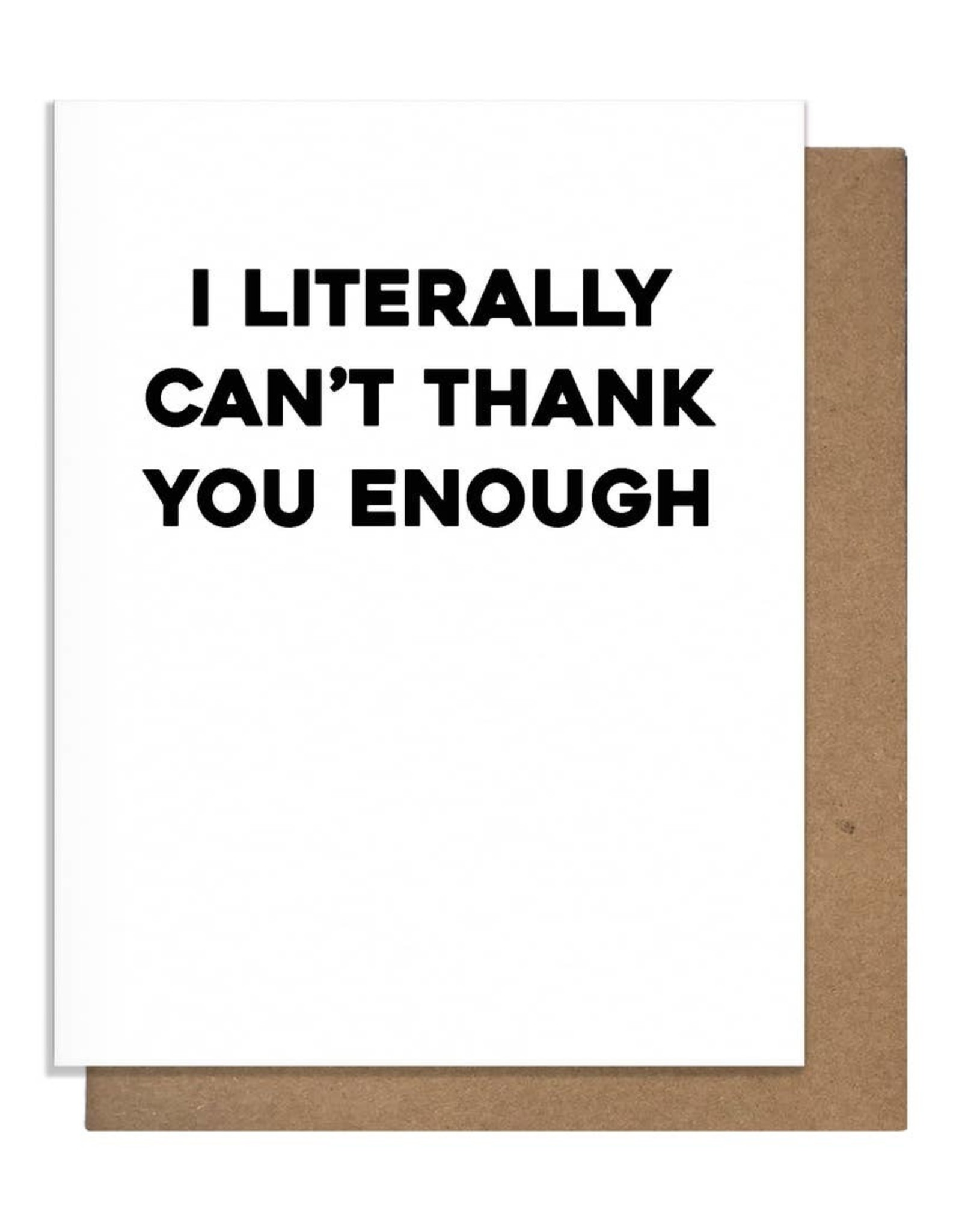 Card - Thank you: literally