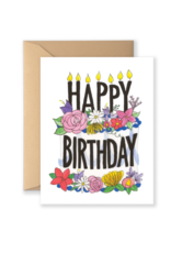 Card - Birthday: Floral Cake
