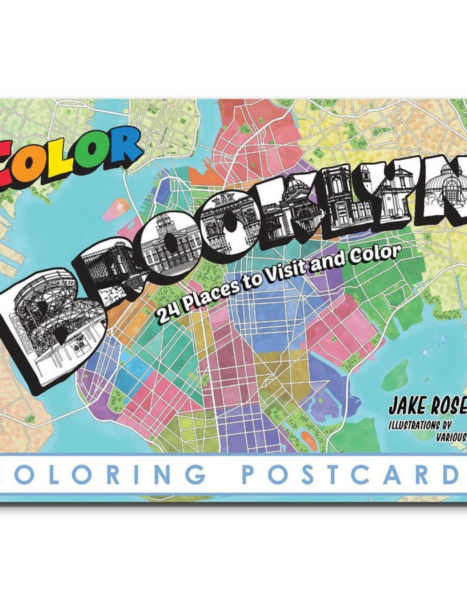 Color Our Town Brooklyn Coloring Postcards
