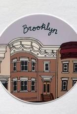Sticker: Brooklyn houses