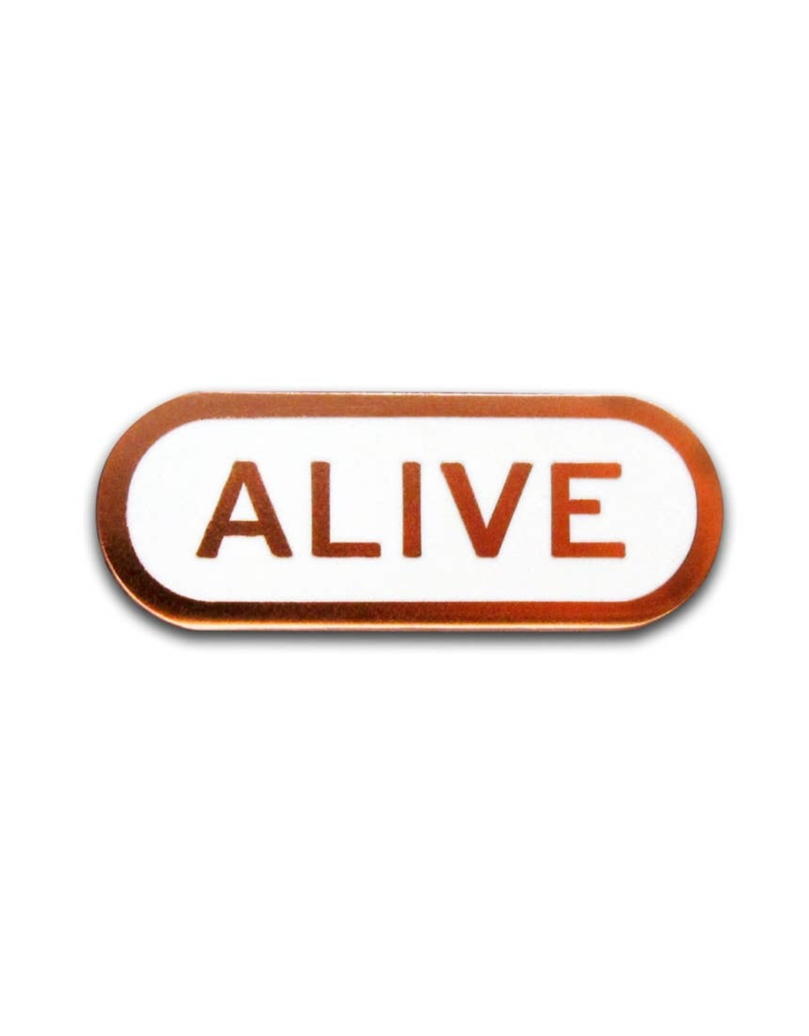 Word For Word Factory Enamel Pin: Alive
