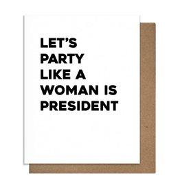 Card - Birthday: Woman president