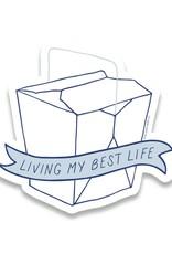 Sticker: Living my best life