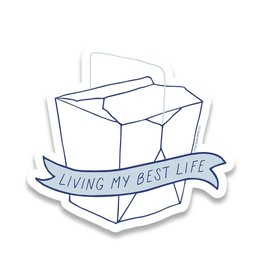 Little goat paper company Sticker: Living my best life