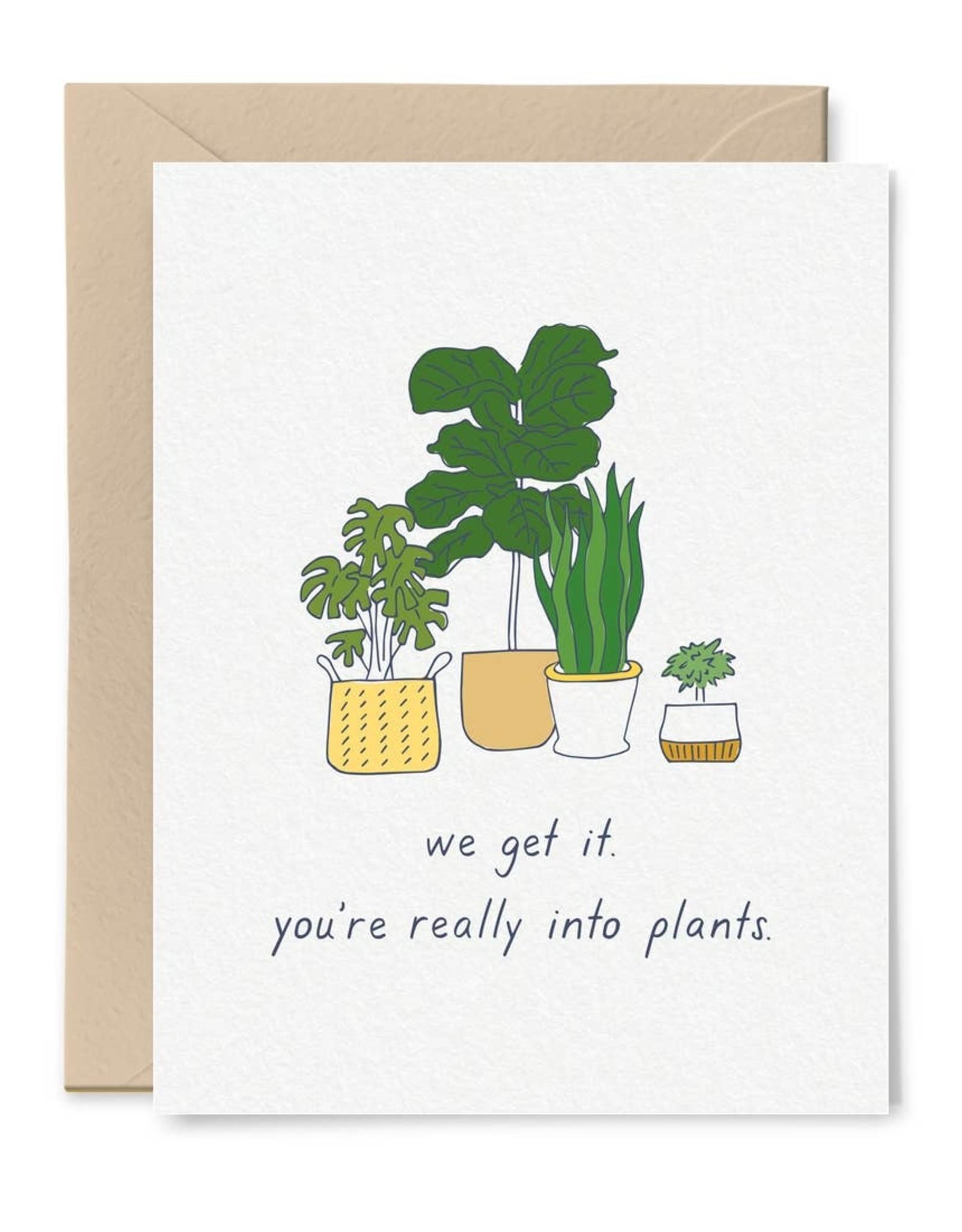 Little goat paper company Card - Blank: You like plants