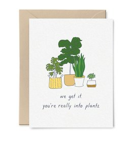 Little goat paper company Card - Blank: You like plants