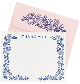 Boxed Cards - Thank you: Peony Letterpress (10)