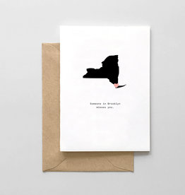 Spaghetti and Meatballs Card - Blank: Someone in Brooklyn misses you