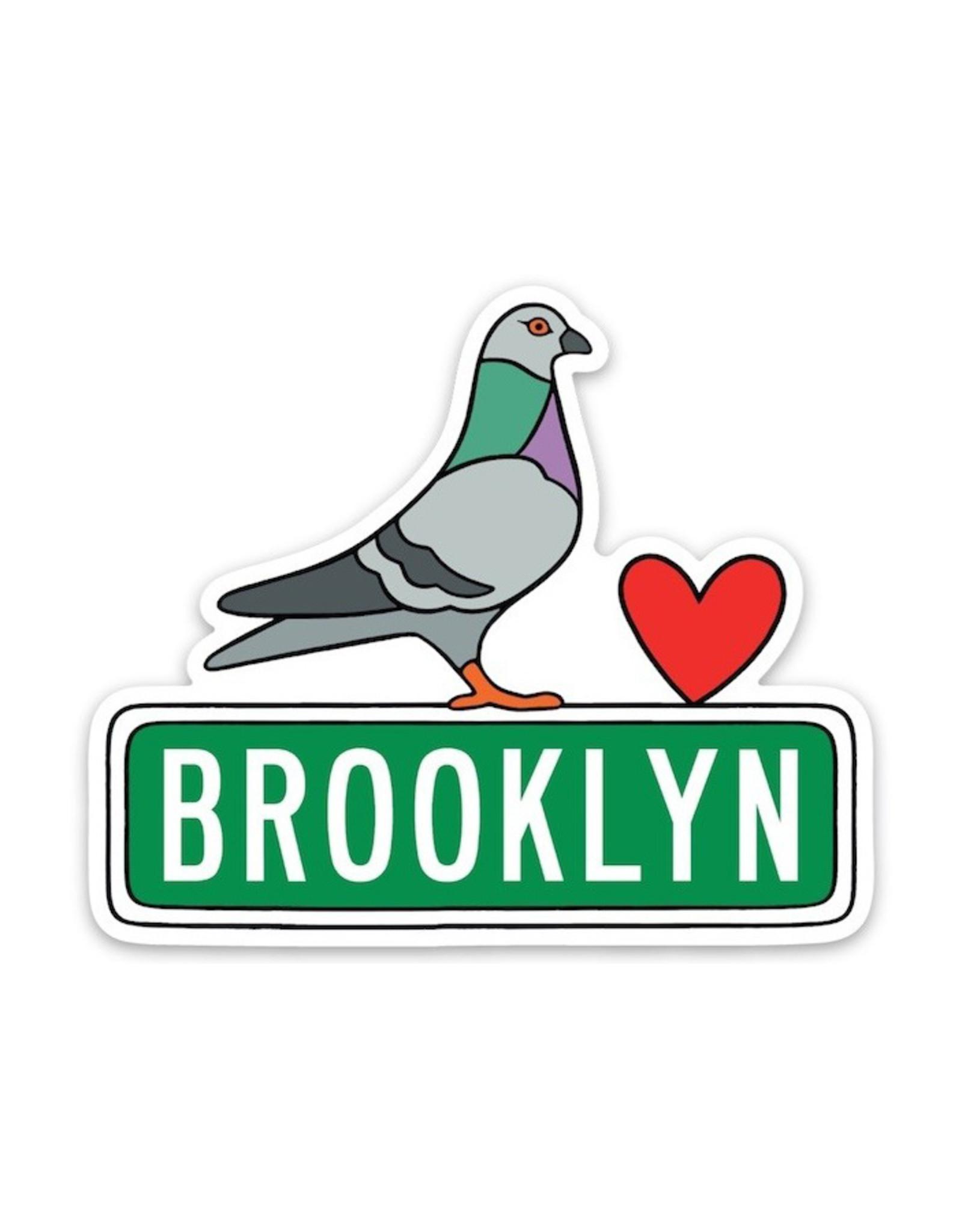 Stickers: Die Cut Brooklyn Pidgeon