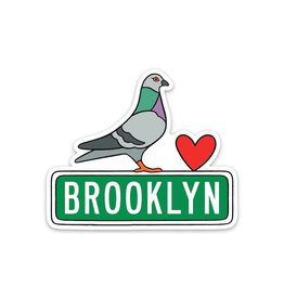 Stickers: Die Cut Brooklyn Pidgeon