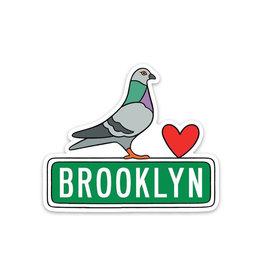 The Found Stickers: Die Cut Brooklyn Pidgeon