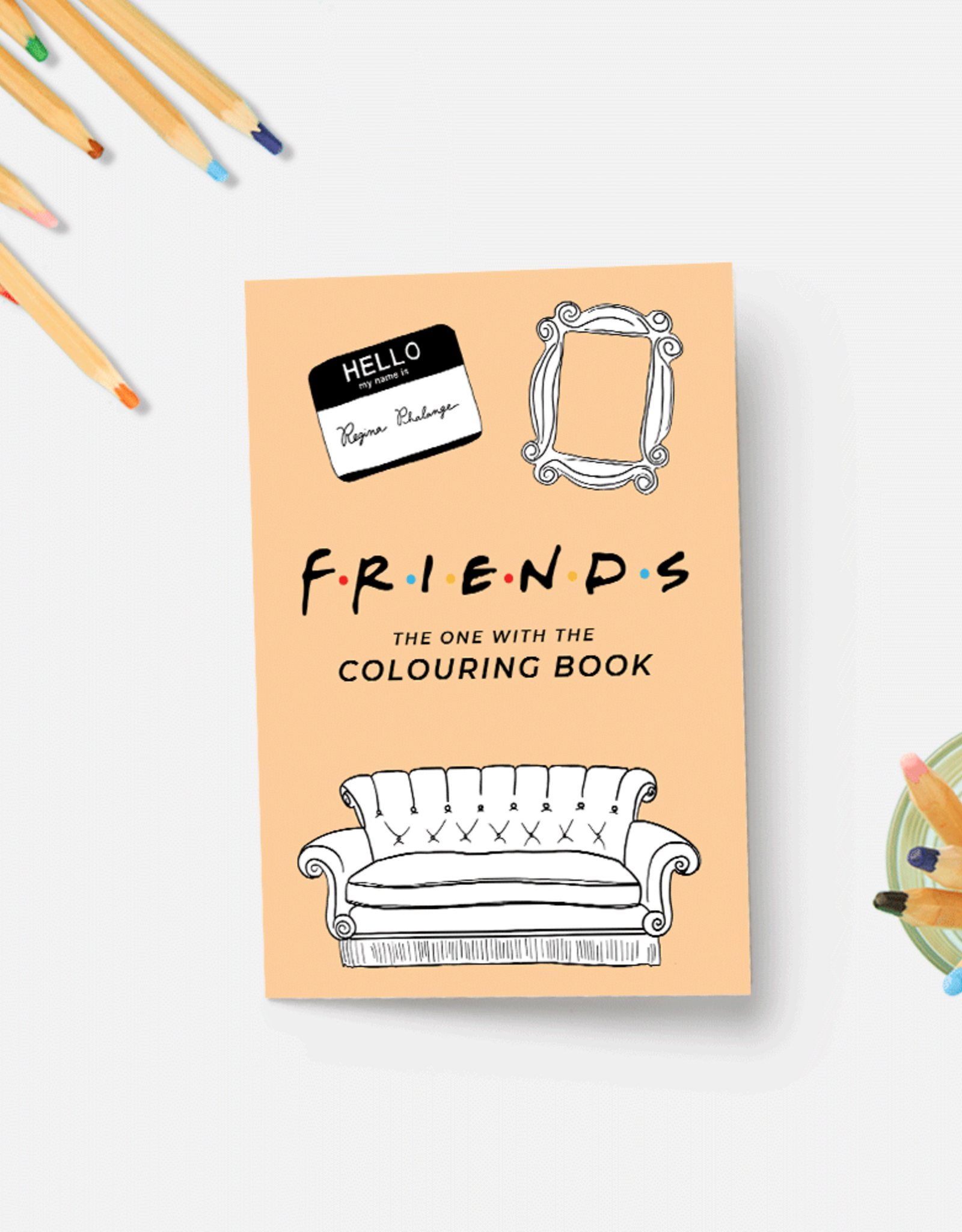 Party Mountain Paper Coloring Book: Friends