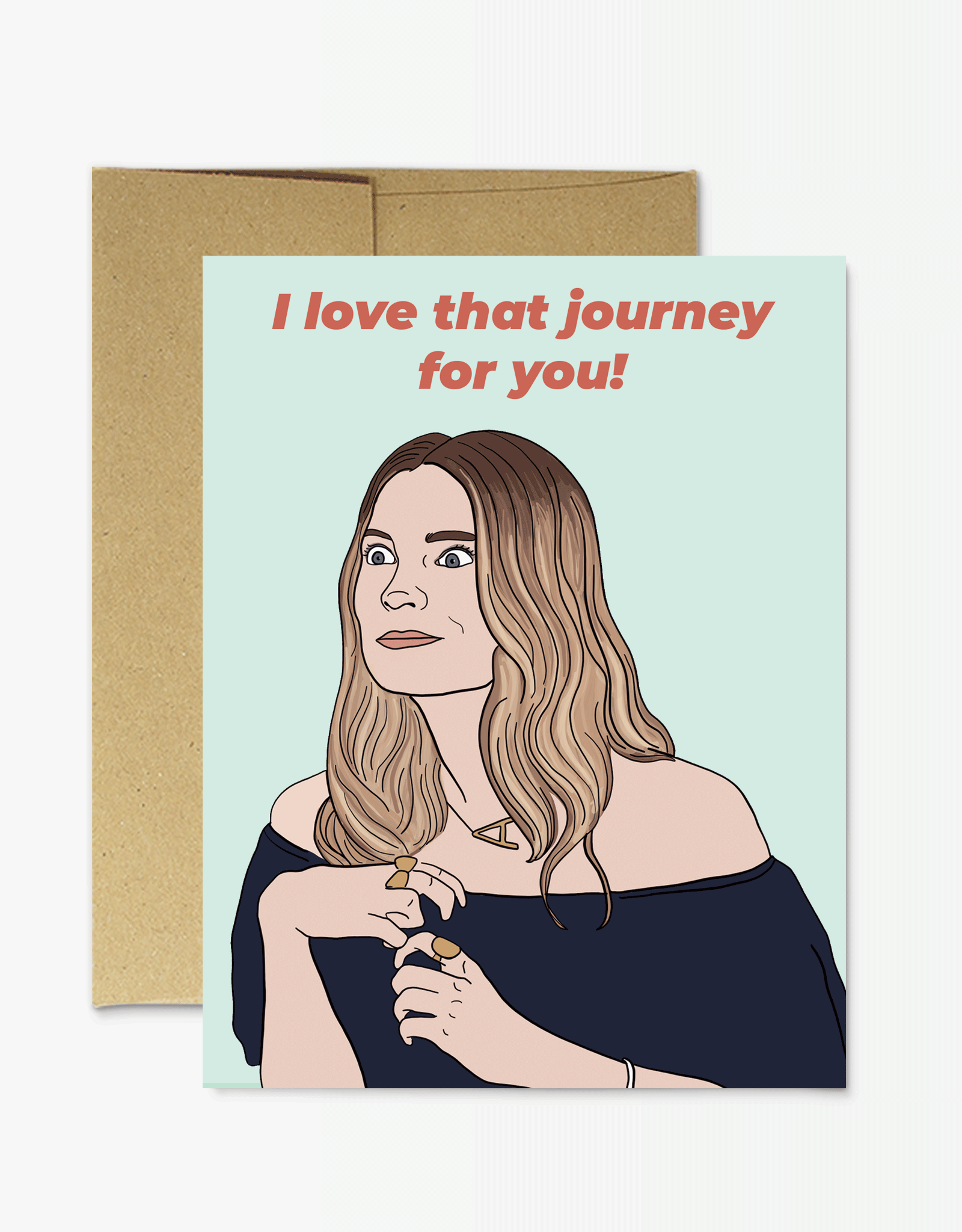 Party Mountain Paper Card - Blank: Love That Journey For You
