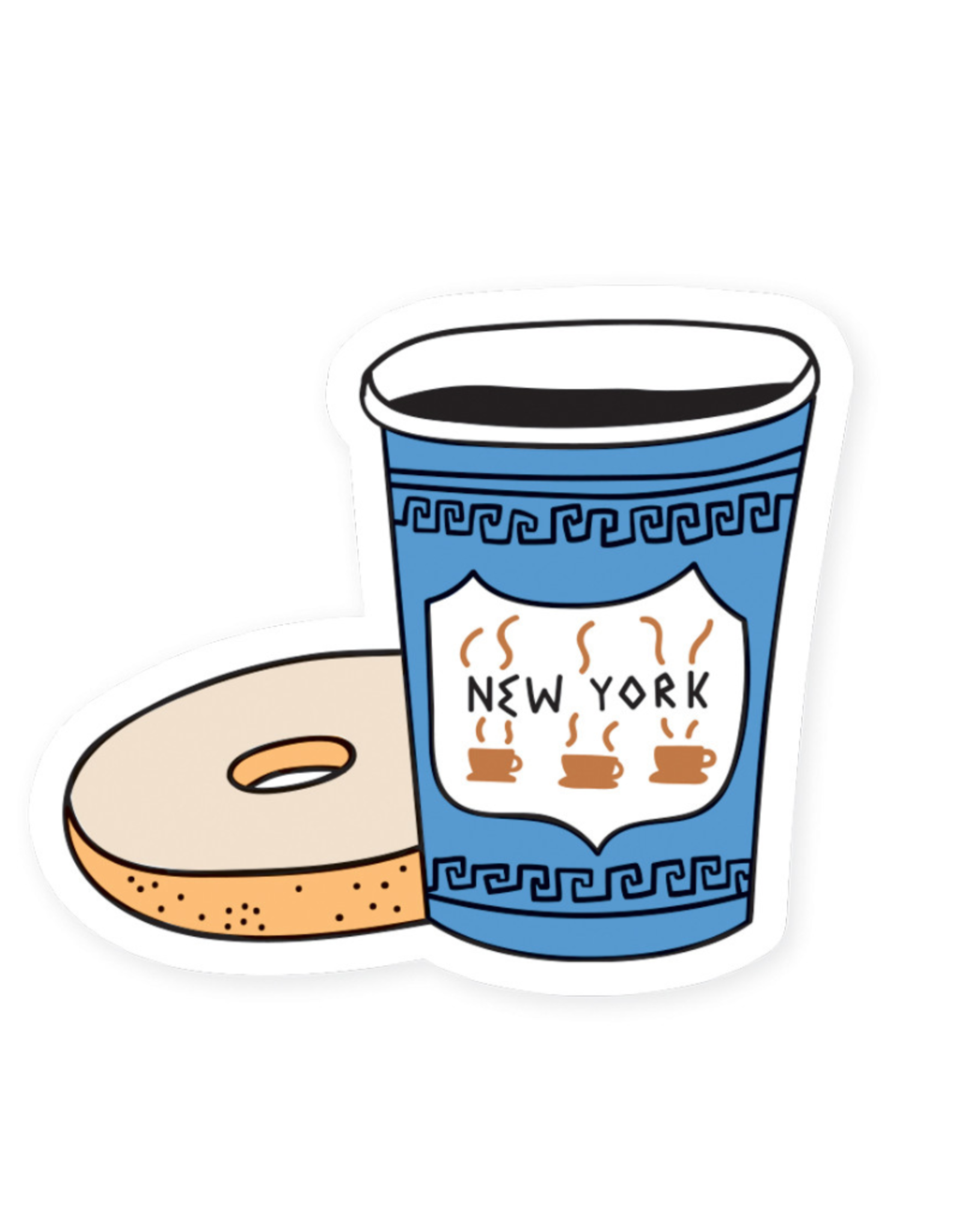 Seltzer Goods Sticker: New York City Coffee