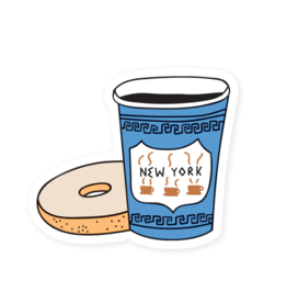 Sticker: New York City Coffee