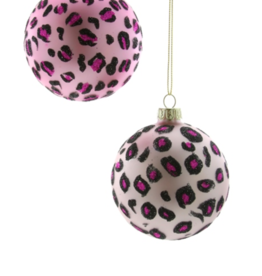 Ornament: Pink Leopard Bauble