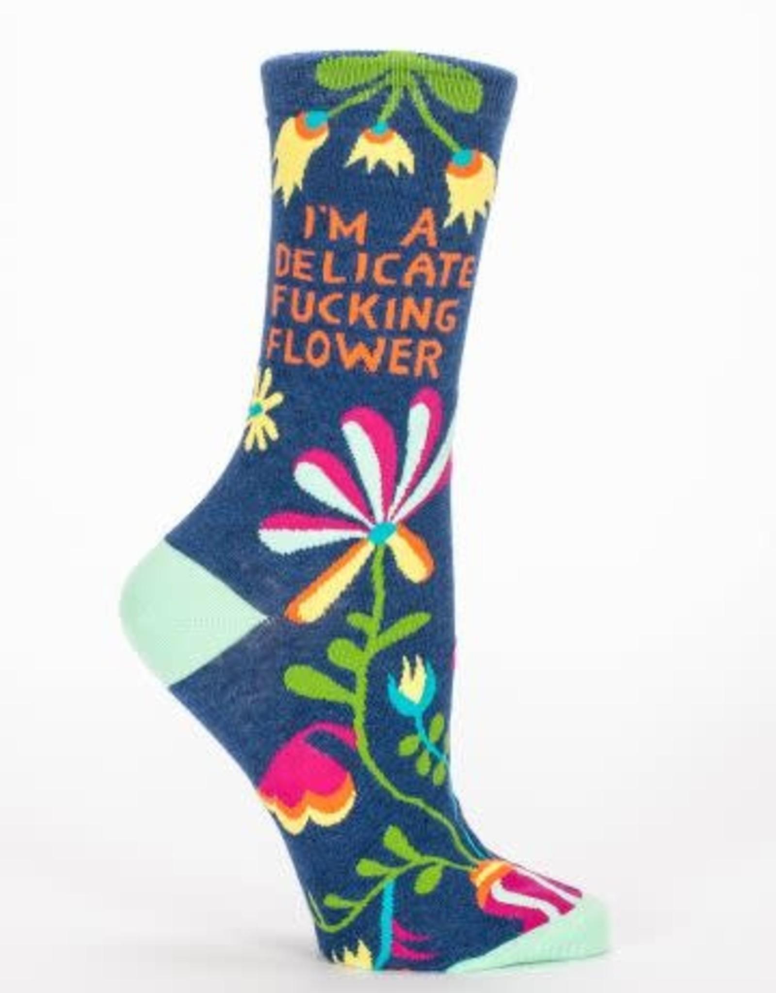Womens Socks - I'm a delicate Flower