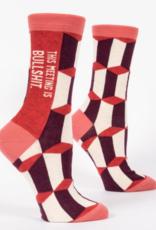 Blue Q Meeting Socks