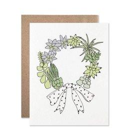Card - Holidays: Succulent Wreath