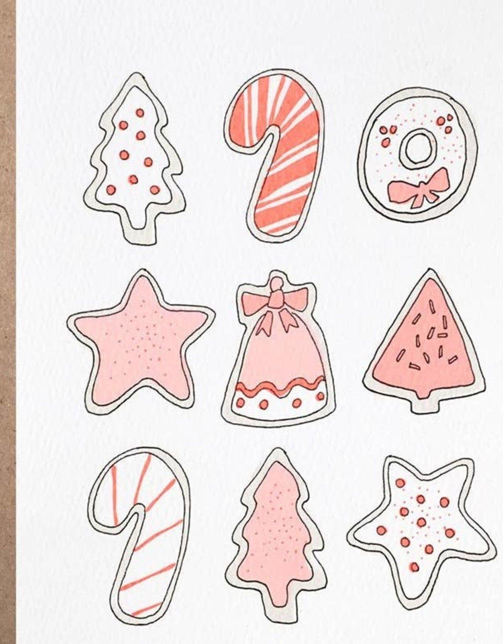Card - Holidays: Neon Cookies