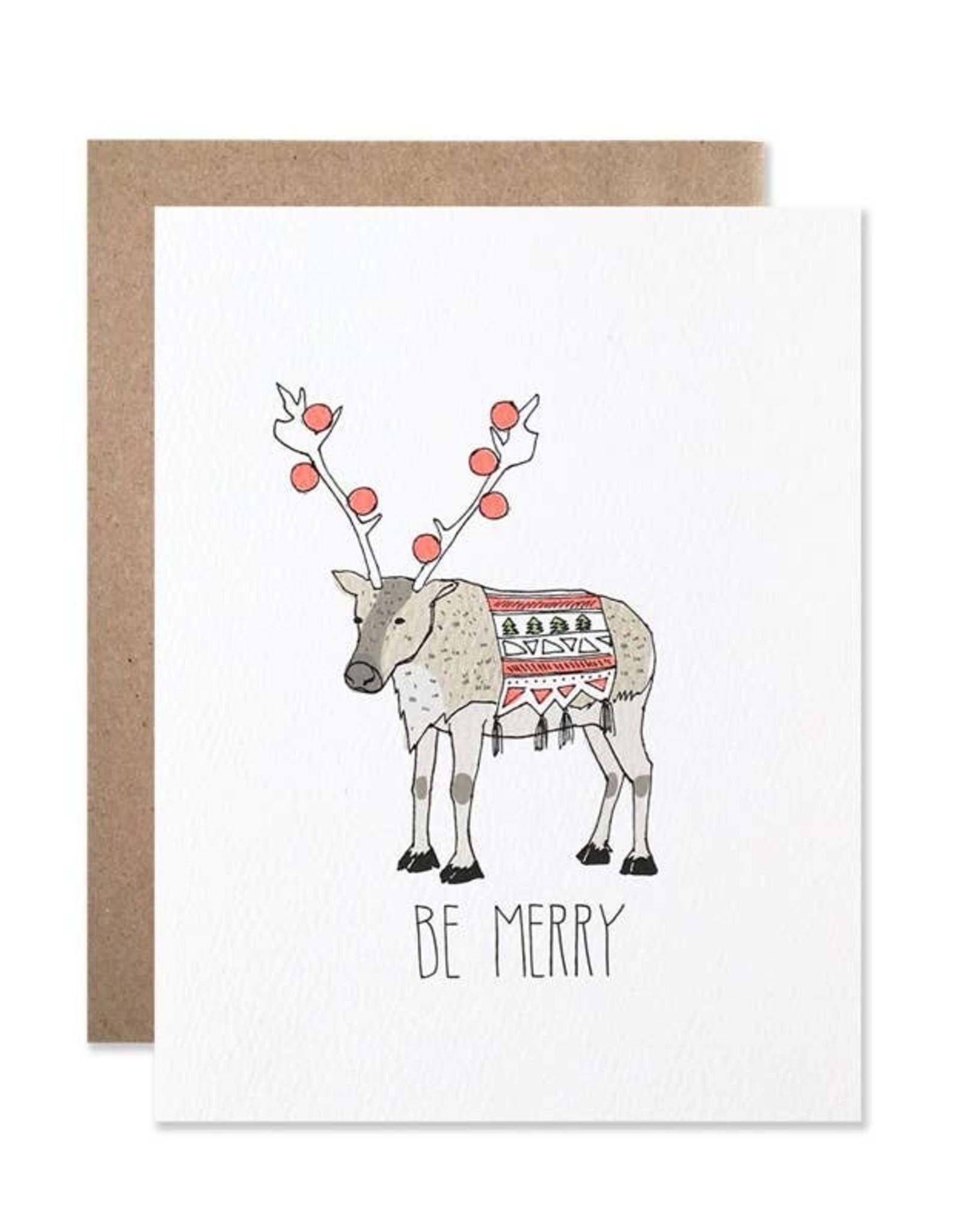 Card - Holidays: Merry Reindeer