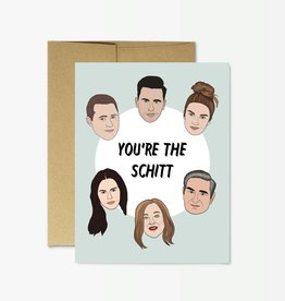 Party Mountain Paper Card - Blank: you're the Schitt