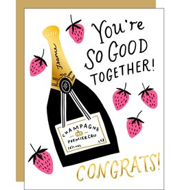 Egg Press Manufacturing Card - Wedding: Strawberries & Champagne