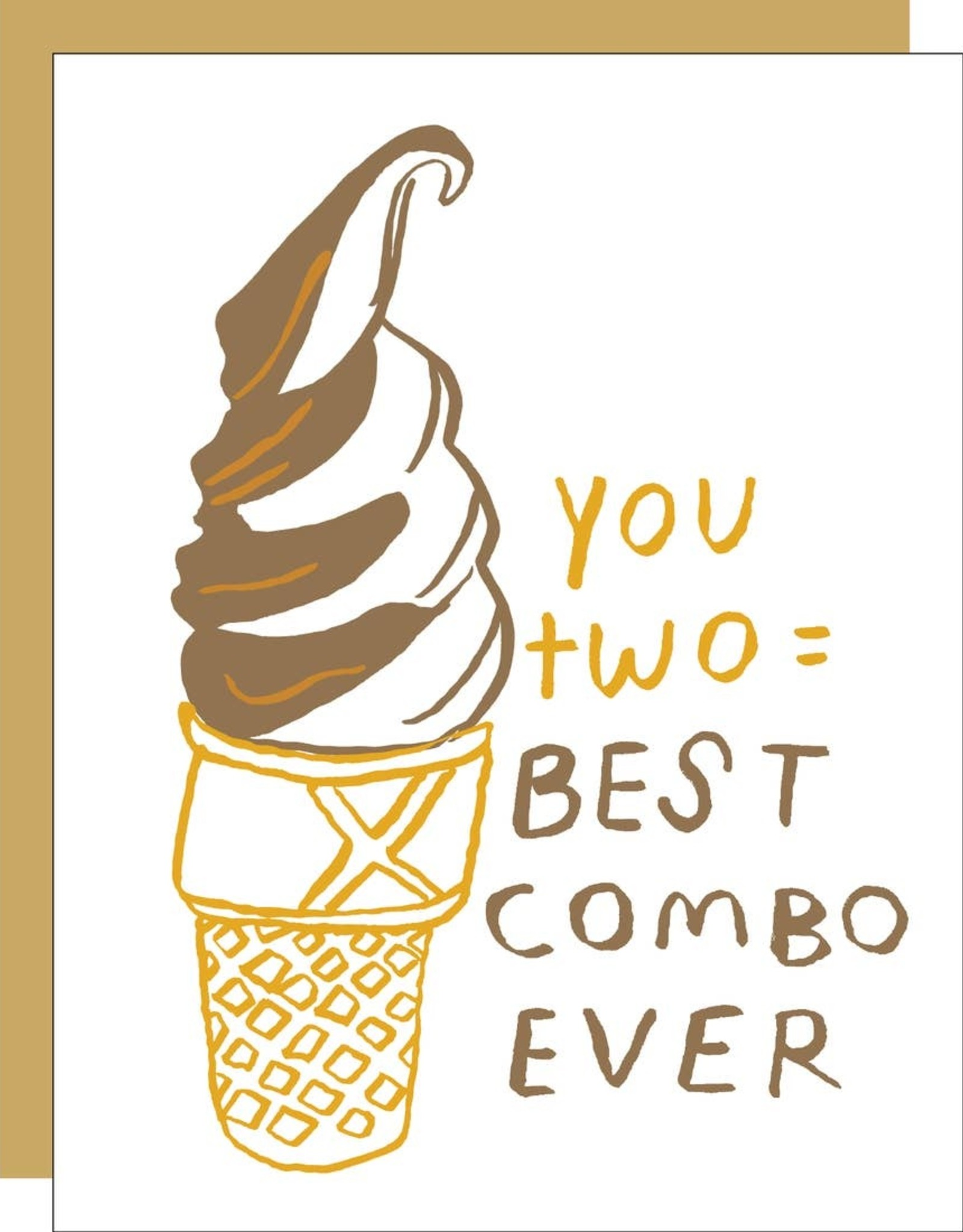 Egg Press Manufacturing Card - Love: Best Couple Swirl