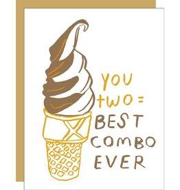 Card - Love: Best Couple Swirl