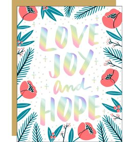 Card - Holiday: Love Joy and Hope