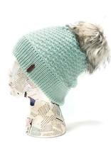 Hat: Foxy Faux Fur Pom Beanie