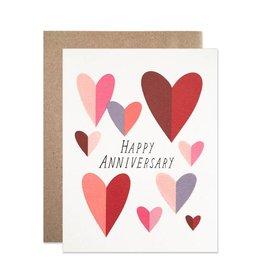 Card - Anniversary: Hearts