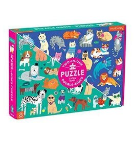 Chronicle Books Puzzle: 100 piece double sided cats dogs