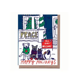 Card - Holiday: All are welcome dogs