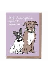 Card - Wedding: Dogs