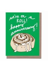 Card - Anniversary: Scratch & Sniff Cinnamon Roll