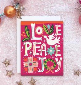 Card - Holidays: Love Peace Joy
