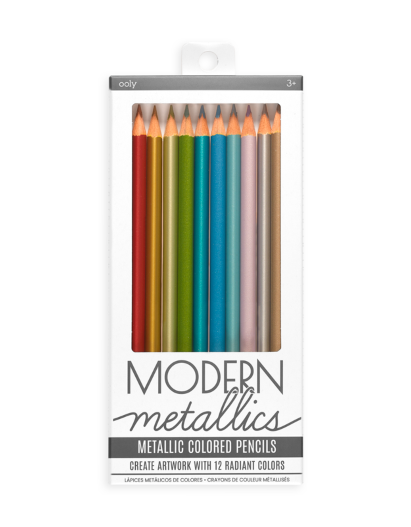 Ooly DBA International Arrivals Metallic Colored Pencils