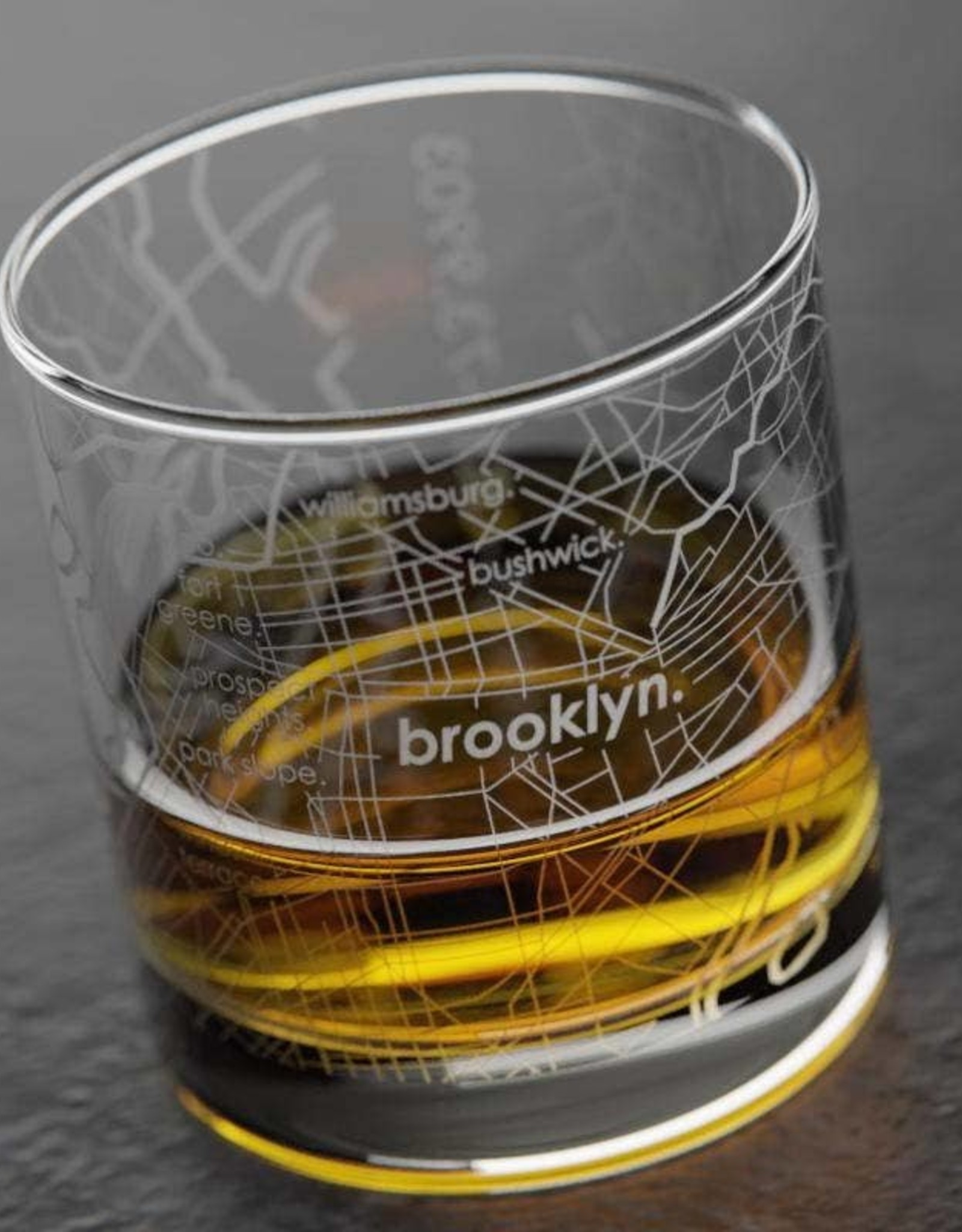Well Told Brooklyn Rocks Whiskey Glass
