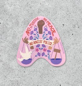 Citizen Ruth Sticker: No justice no peace
