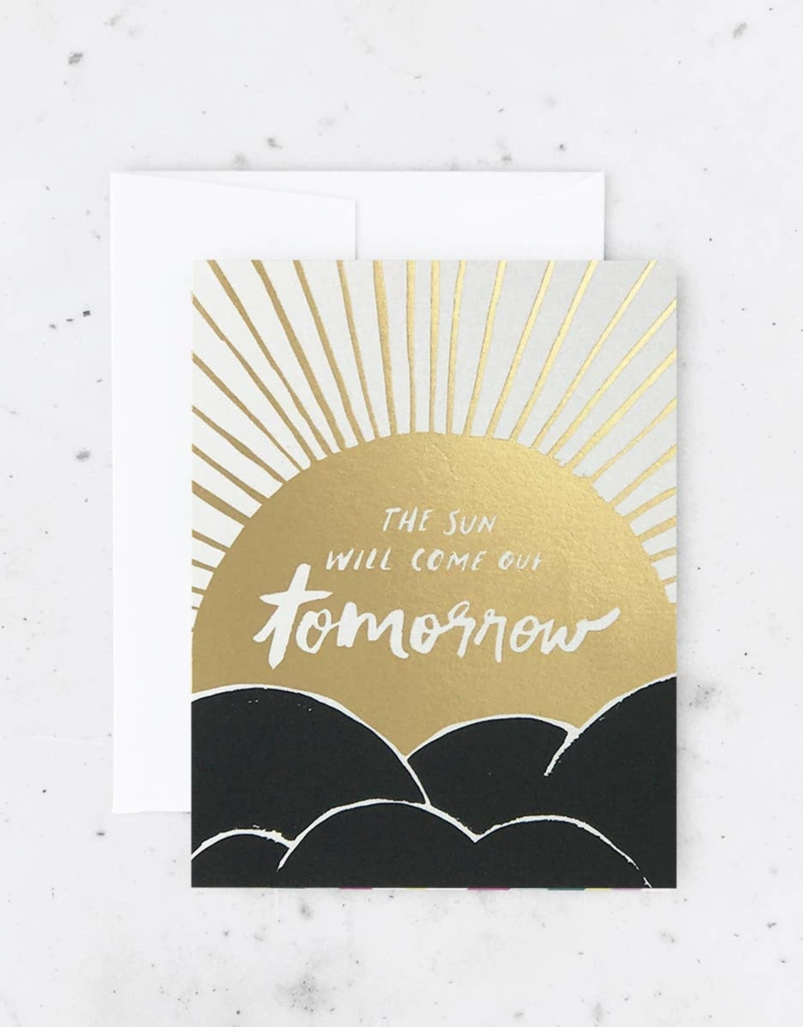 Card - Blank: The sun will come out tomorrow