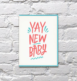 Bench Pressed Card - Baby: Yay new baby