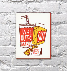 Bench Pressed Card - Love: Take out and make out