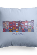 Steph Stilwell Illustration Pillow - I heart Brooklyn