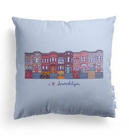 Steph Stilwell Illustration Pillow - I heart Brooklyn