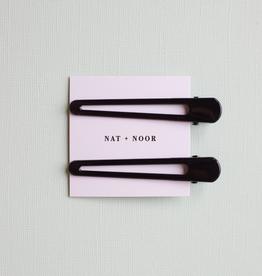 Nat & Noor Hair Clip Set of 2: Black Triangle