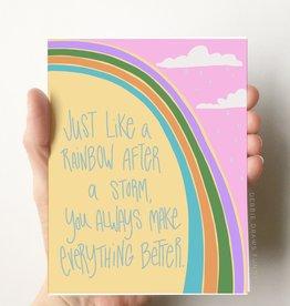 Card - Love: Rainbow after a storm