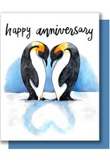 Card - Anniversary: Penguins